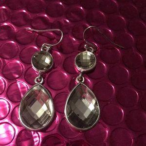 Vera Wang Crystal Dangle Earrings